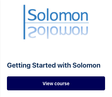 Getting started with Solomon
